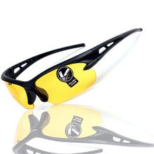 Night vision goggles drivers night-vision glasses anti glare night with luminous driving glasses Protective Gears sunglasses(China)