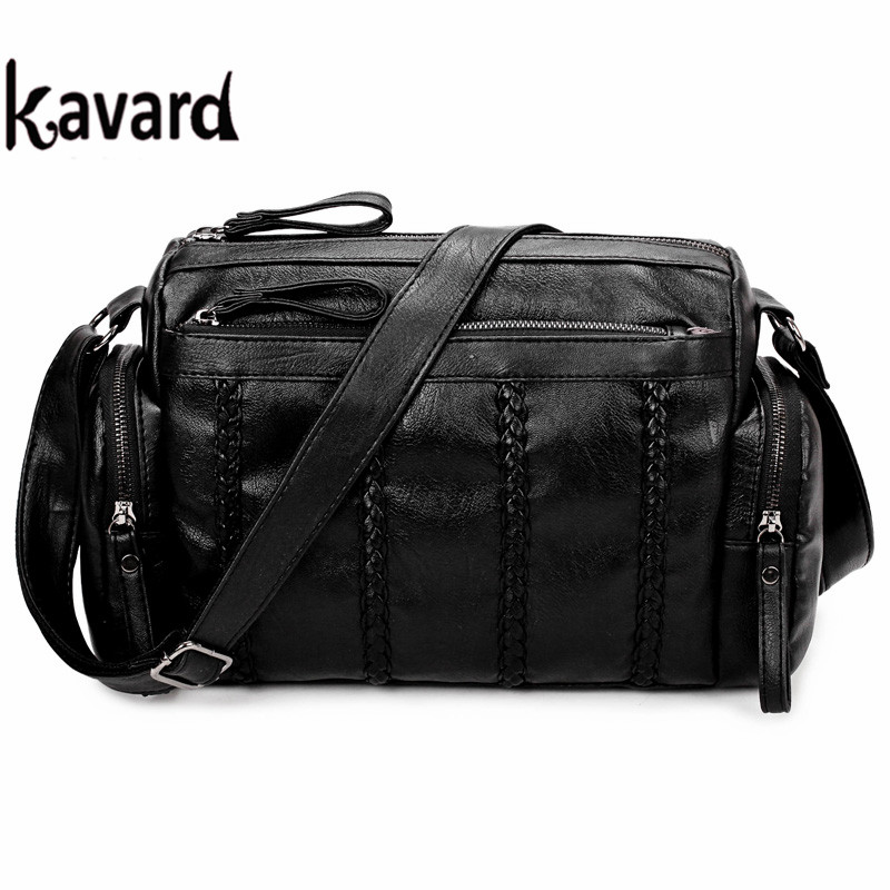 Designer handbags high quality Kavard Famous Brand luxury handbag Women Bag Pu Leather Women Messenger Bags Black Crossbody Bag luxury handbags women bags designer high quality chains pu leather handbag crossbody flap handbag ladies messenger bag totes