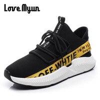 패션 브랜드 남성 니트 플라이 직물 천 캐주얼 신발 2018 새로운 디자인 경량 통기성 메쉬 운동화 신발 HH-36