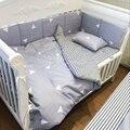8 Шт./компл. детское постельное белье комплект 100% хлопок кроватке бампер детская кроватка наборы детская кровать бампер кровать arround бампер Серый треугольник Розовый Точка