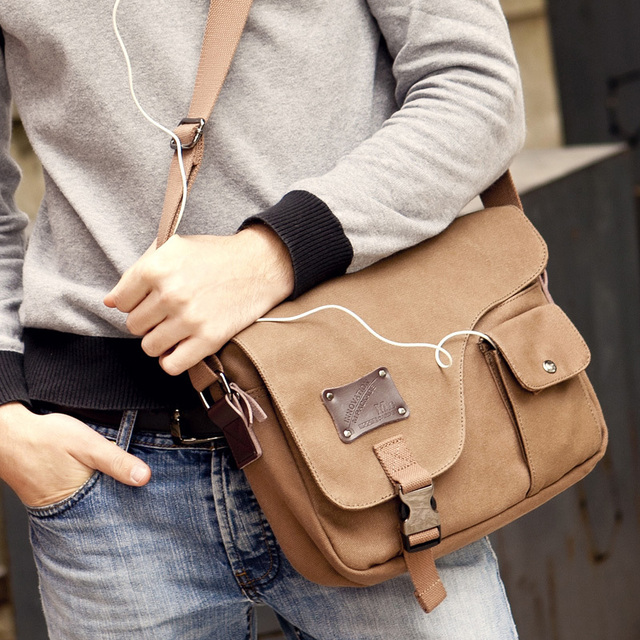 Moore Carden hot selling canvas messenger bag men women shoulder bags for  ipad b81723b4e2