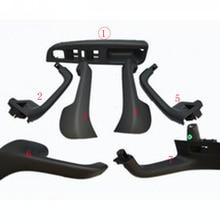 7 шт., Черная внутренняя ручка, дверной захват, переключатель окна, ободок, крышка для Фольксваген Гольф 5 GTi MK5 Jetta, внутренний подлокотник 1K0 868 040B