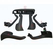 7Pcs Zwart Interieur Handvat Deur Grab Window Switch Bezel Cover Voor Vw Volkswagen Golf 5 Gti MK5 Jetta Innerlijke armsteun 1K0 868 040B