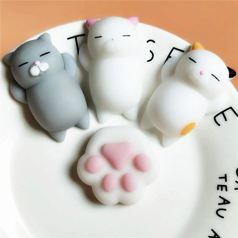 2pcs / Pack Kawaii יפן Mochi בעלי חיים Lazy חתול - צעצועים הומוריסטיים