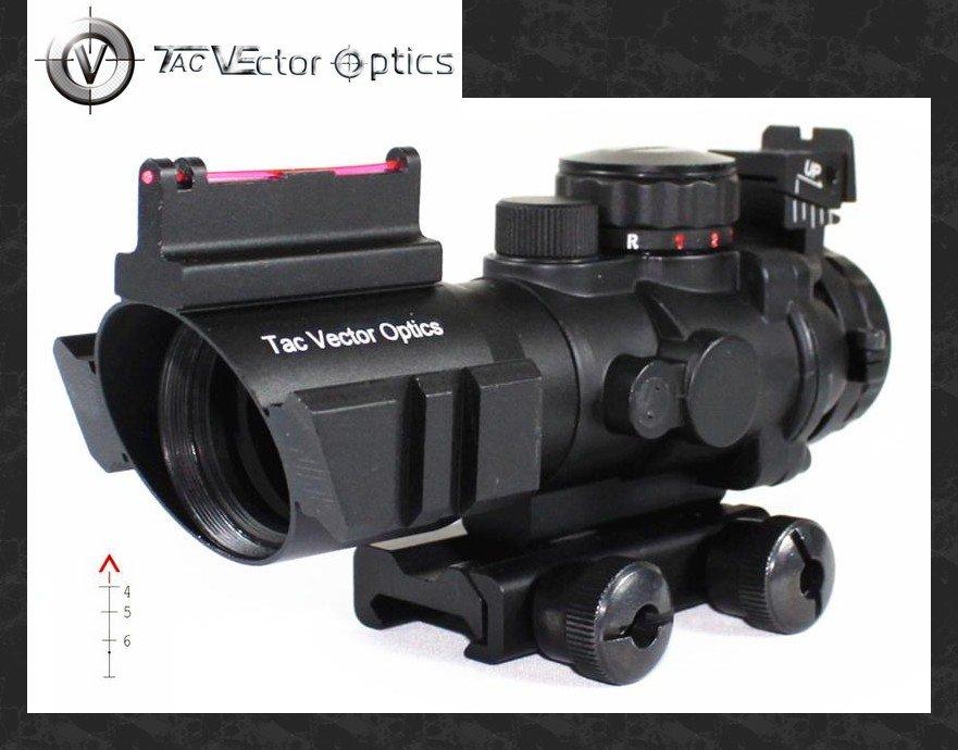 Vector Optics Goliath 4x32 Tactical Prism Compact Riflescope Fiber Optics Sight Tri-Illumination Chevron .223 5.56 Reticle vector optics paragon 6 30x56 tactical long range riflescope telescopic sight with high quality german lens glass reticle
