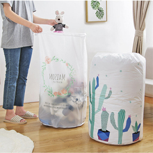 PEVA home organizer storage bag Clothes Packaging Toy packing Bag Quilt Closet Clothing For Pillow Blanket Bedding