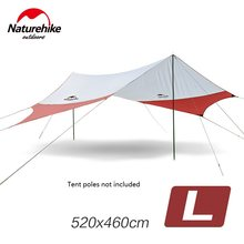 Naturehike NH16T013-S Large Camping Tent Awning Flysheet Canopy Outdoor Beach Awning 6 Persons without Tent Poles(China)