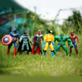 2016 hot sale 6 pcs marvel the avengers super hero capitão batman spiderman action figure toy for kids presente das crianças juguete