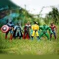 2016 venta caliente 6 unids marvel los vengadores super hero batman spiderman capitán figura de acción de juguete para los niños regalo de los niños juguete