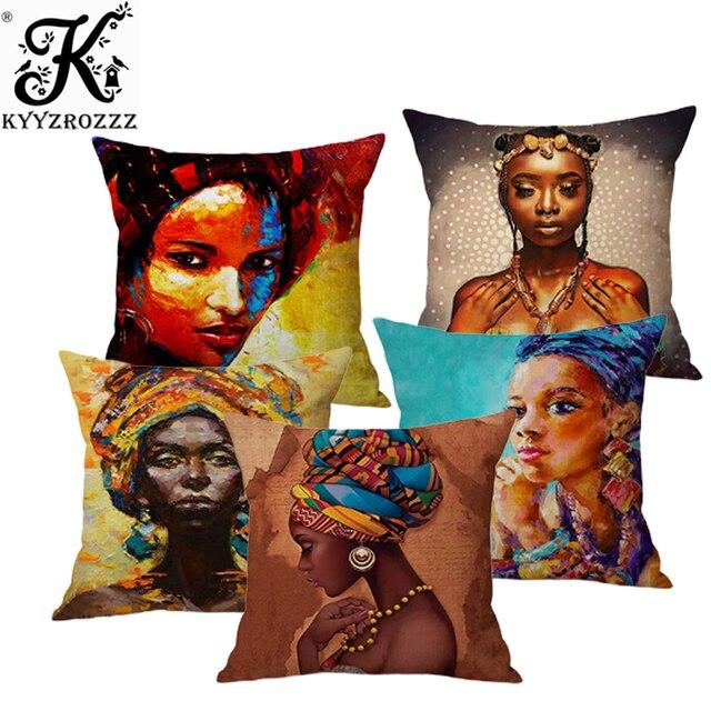 Di modo Ragazza Africana Pittura A Olio Della Signora Nero Delle Donne di Casa D
