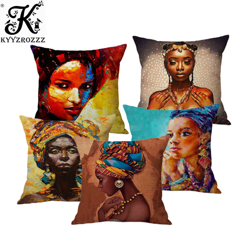 Aliexpresscom  Buy Fashion African Girl Lady Oil Painting Black Women Home Art -8648