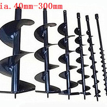 100mm Heavy duty Soil Auger earth drill bit blade bits head for Gasoline Drill Electric Hammer and Water borer 800mm length