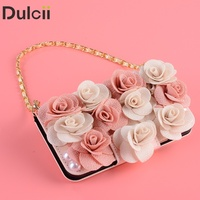 Dulcii Case For Xiaomi Mi 6 3D Roses Decor PU Leather Card Slots Cell Phone Cover
