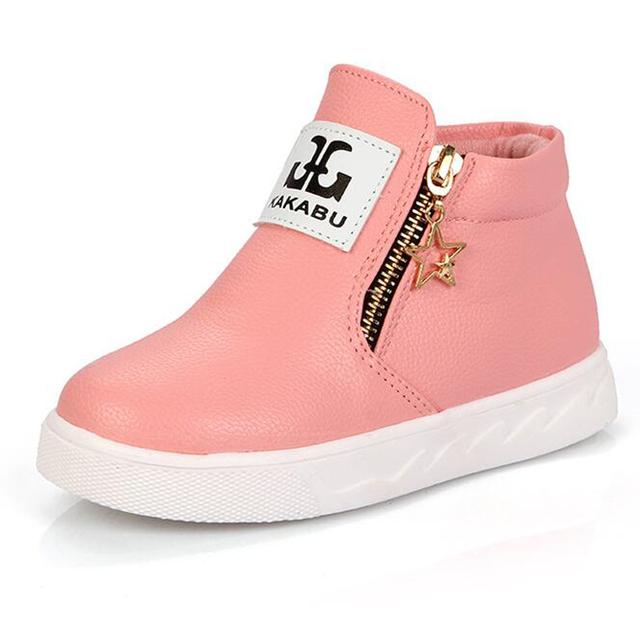 Couro estilo britânico Coreano Grande Estudante crianças em meninos meninas hip hop Sneakers crianças calçados esportivos individuais preto branco vermelho