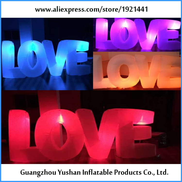 china supplier wedding decoration inflatable led letters love us piece free shipping