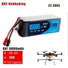 DXF Lipo Baterai 16000 mAh Drone FPV 22.2 V 25C Max 50C Mainan & Hobi Untuk Quadcopters Helikopter RC Model li-polymer Baterai