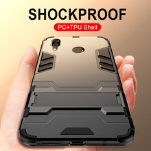 Luxury Armor Shockproof Case For Huawei Honor 10 8x 9 Lite Phone Case Back Cover For Huawei honor 8x Max Silicone Holder Case(China)