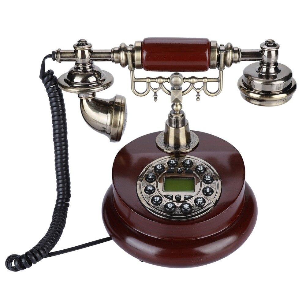 Rétro Vintage Téléphone Antique Téléphone Fixe Téléphone pour Home Office Hôtel FSK/DTMF Filaire Téléphone Filaire avec Affichage