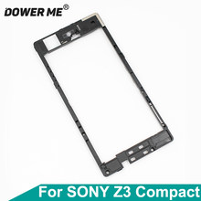 Dower Me For Sony Xperia Z3 Compact Z3mini M55w D5833/03 Z3C Back Middle Frame Speaker Motherboard Holder Rear Plate Antenna(China)