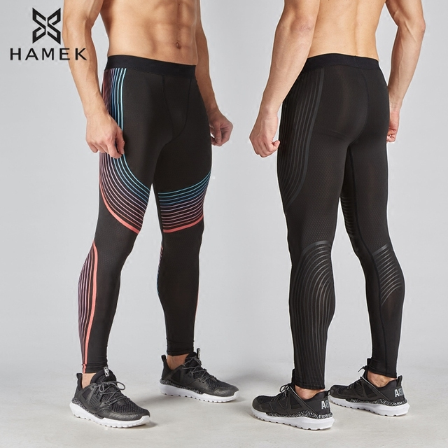 961c2718ed438 Men compression trouser Legging Running pant Tights sport Gym Soccer  basketball tennis fitness Cycling football pants breathable
