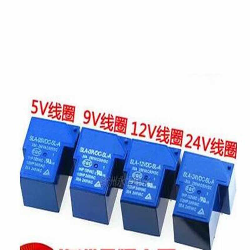 Бесплатная Доставка 10 шт./лот Мощность реле SLA-05VDC-SL-A SLA-12VDC-SL-A SLA-24VDC-SL-A SLA-09VDC-SL-A 5 В, 12 В, 24 В постоянного тока, 09V 30A 5PIN T90