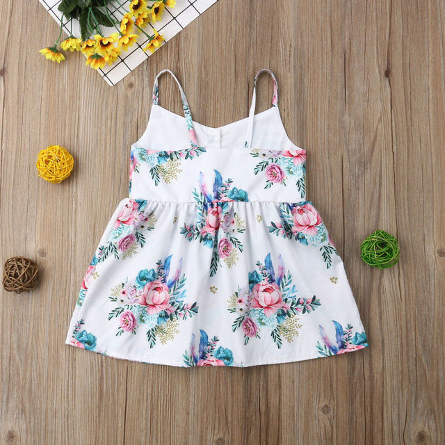 Spring New Fashion Kids Baby Girls Flower Princess Sleeveless Dress Sundress Summer Clothes 5