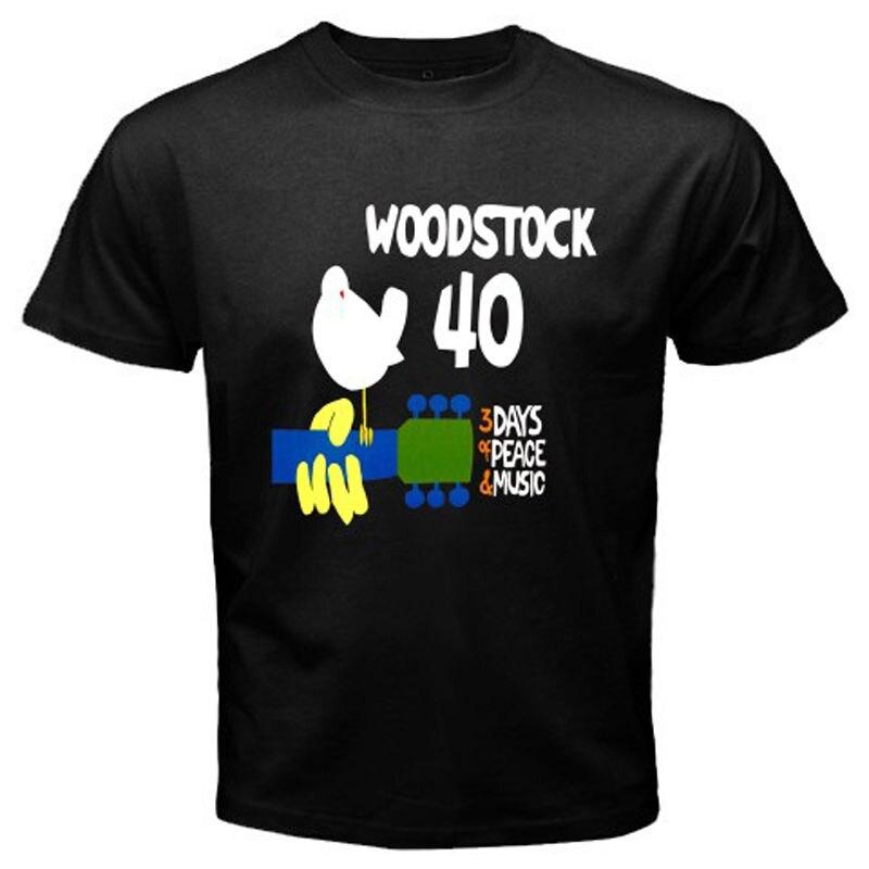 New <font><b>Woodstock</b></font> <font><b>3</b></font> <font><b>Days</b></font> <font><b>of</b></font> <font><b>Peace</b></font> <font><b>Music</b></font> Concert Men's White Black T-Shirt Size S-2XL Cheap Sale 100 % Cotton T Shirts for Boys