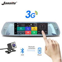 Jansite 7 Touch Screen 3G Car DVR Dash Camera Android 5.0 Bluetooth WIFI Cameras Recorder Rearview Mirror with Backup Camera