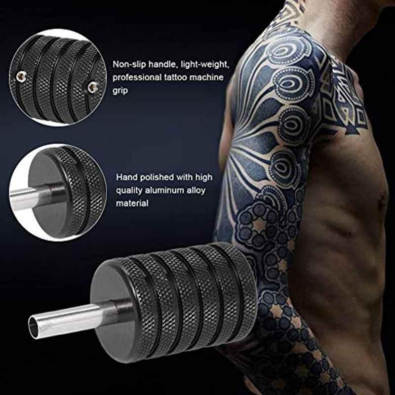 Tube en aluminium de poignée de Machine de tatouage de 35mm réglable pour la poignée rotatoire de poignée de mitrailleuse de tatouage de bobine d'aiguille de tatouage de cartouche