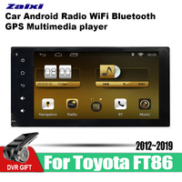 ZaiXi car gps multimedia player For Toyota 86 FT86 GT86 2012~2019 car Android navigation raido video audio player stereo audio