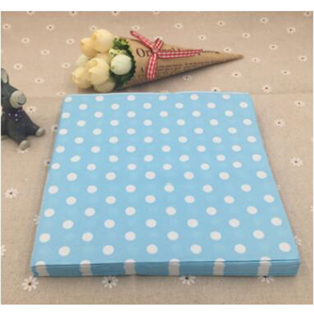 WEISIPU 33cm Tableware Serviettes Dinner Napery Polka Dot Paper Napkins Xmas Christmas Party Decoration 20pcs & WEISIPU 33cm Tableware Serviettes Dinner Napery Polka Dot Paper ...