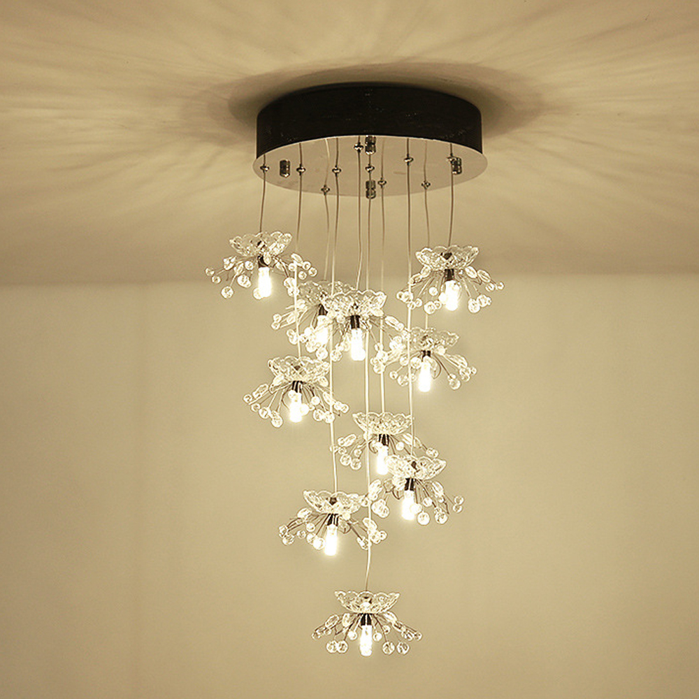 Fancy design crystal chandelier lighting modern LED lamp AC110v 240v lustre cristal living room bedroom lights luxury design modern crystal chandelier led lamp ac110v 220v lustre cristal foyer chandelier lighting