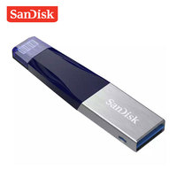 SanDisk USB Flash Drive iXPand OTG Lightning Connector Pen Drive USB 3.0 Pendrive 32GB 64GB 128GB MFi for iPhone Pink Blue Gray