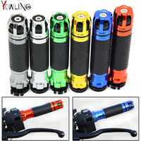 Universal Street Racing 7 8 22MM CNC Motorcycle Handlebar Grip Handle Bar Motorbike Handlebar Grips 8