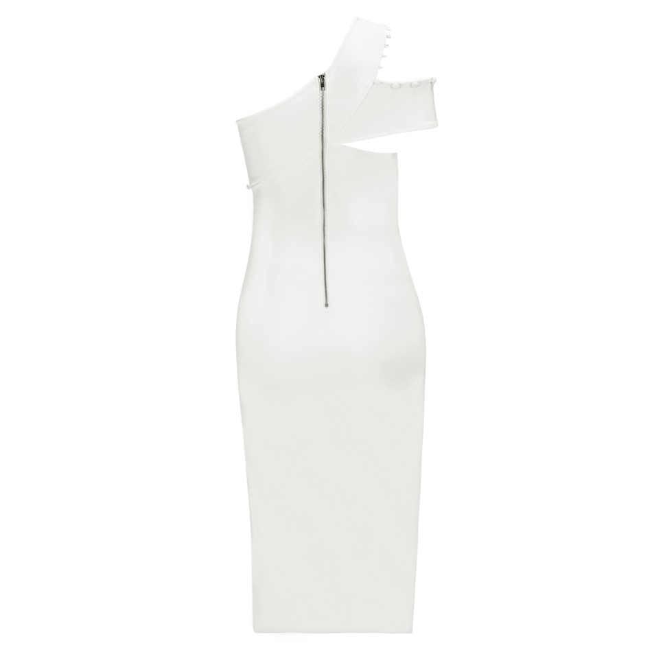 Amazing One ไหล่สีขาวด้านข้างปุ่มแขนกุดไหล่เย็นผ้าพันแผลเข่าความยาวพรรค Sheath ชุด
