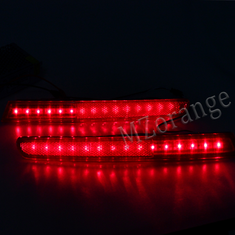 For Ford Explorer 2011 2012 2013 2014 2015 MIZIAUTO Rear Bumper Reflectors Car Red Lens LED Fog Lights Stop Lamp Warning Light in Car Light Assembly from Automobiles Motorcycles