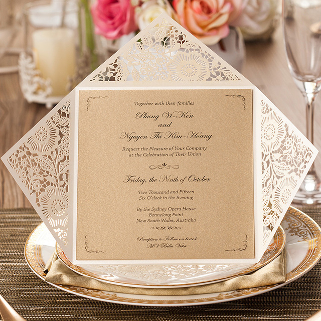 Aliexpress Buy 1PCS Sample Card Wedding Invitations Laser – Sample Party Invitation Card