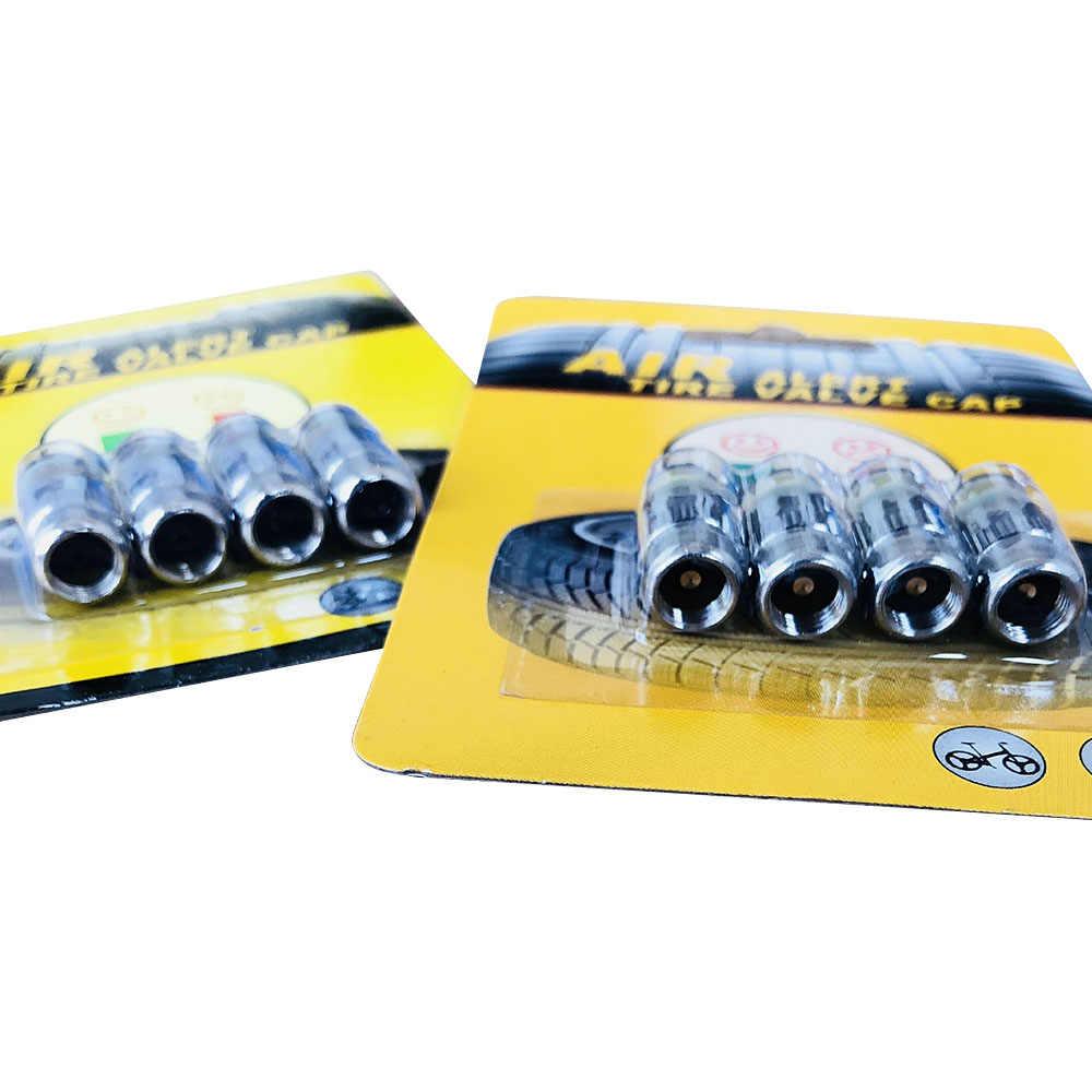 4 teile/satz 2,4 Bar Auto Reifen Druck Che Kappe Sensor Anzeige Alarm Überwachung Werkzeug Alarm Air Manometer Reifen Kappe anzeige