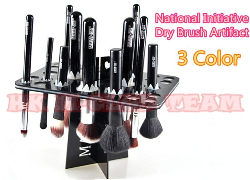 b981dcf19084 US $143.99 |Whosales 10pcs/lot Brush Drying Rack Maange Brush Tree  Professional Makeup Brush Drying cleaning brushes Tool Kit free shipping on  ...