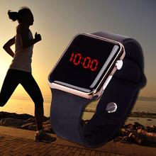 Nowe mody mężczyźni kobiety LED Digital Sport Watch Unisex x27s zegarek dla dzieci zegar silikonowy zegarek zegar Hot Orologio Uomo tanie tanio Placu Auto Date Plastikowe 2 8mm No waterproof Szklane WoMaGe 42mm Cyfrowy Silikonowe Klamra TMC210 24cm No package 21mm