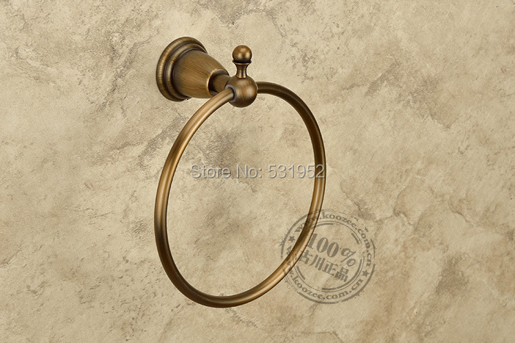 ФОТО Free Shipping Antique Round Towel Ring , Antique Bronze Towel Holder,Bathroom Accessories, Brass Made,North America Euro Design