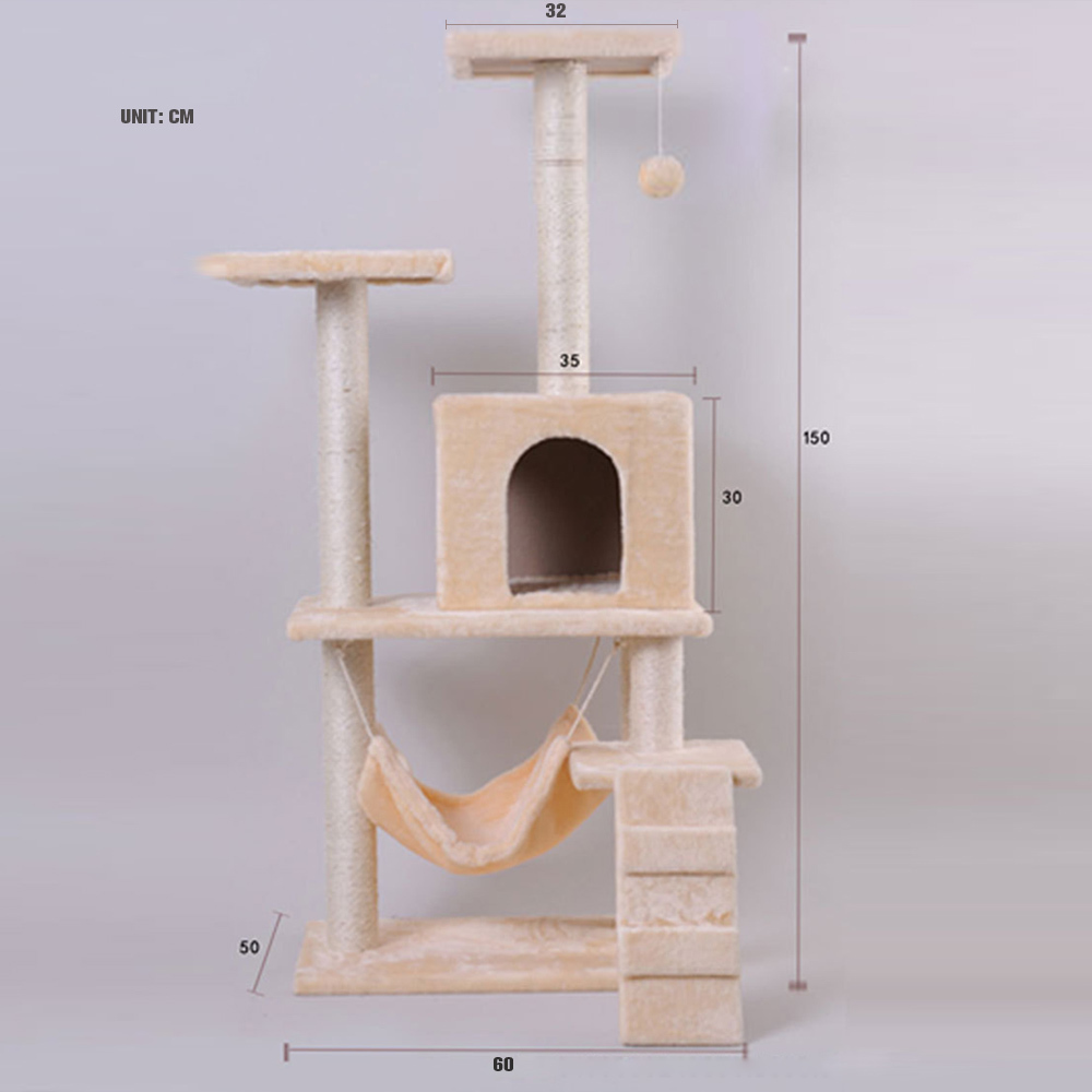 Aliexpress : Buy South Korea Design Diy Cat Tree Tower Condo Scratcher  Furniture Felt Cats Mini House Hammock Pet House Wholesale Price 50*60*150  From