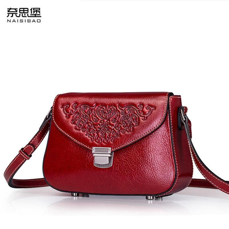 Пояса из натуральной кожи женские мешок китайский ветер тиснением сумка 2018 новый для отдыха сумка В виде ракушки посылка