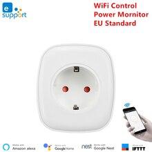 Google trợ lý Thông Minh Wifi Ổ Cắm 220 V Mini di động WiFi ổ cắm tiêu chuẩn EU Loại F ổ cắm EweLink Ứng Dụng điều khiển Alexa tương thích
