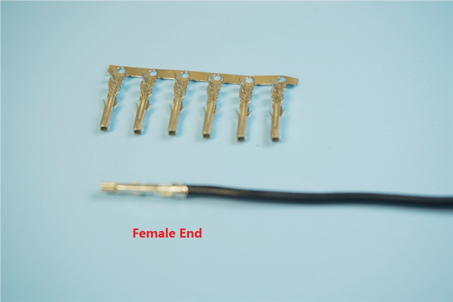 500pcs UL1571 22 AWG Crimp Terminal Pin Wire Female 5557 / 5559 for ...