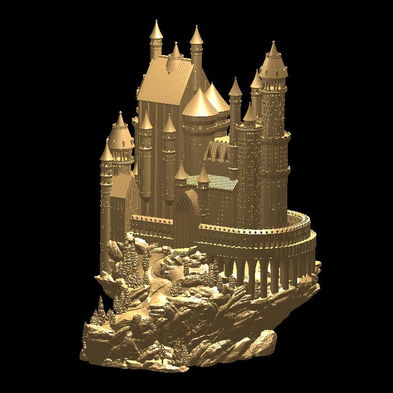 цена Medieval castle High quality New 3D model for cnc 3D carved figure sculpture machine in STL file Medieval castle