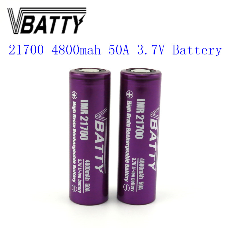 1pc/lot Vbatty 21700 4800mah 3.7V 50A  li-ion accumulator battery high drain
