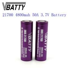 1pc/lot Vbatty 21700 4800mah 3.7V 50A  li-ion accumulator battery high drain