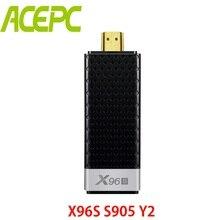 ACEPC Android 8,1 ТВ приставка X96S Amlogic S905Y2 DDR4 4 ГБ 32 ГБ Мини ПК ТВ-карта 2,4G и 5G WiFi Bluetooth 4,2 ТВ-ключ медиаплеер