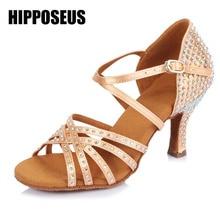 ФОТО best satin ballroom professional latin dance shoes with rhinestone for women/girls/ladies tango&salsa heeled 6.5cm brand new